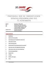 Protokoll 30. GV vom 9.3.2013.pdf - Tennisclub Hünenberg
