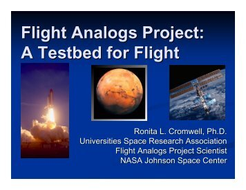 Flight Analogs Project: A Testbed for Flight