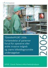 Temarapport 2006: - Sundhedsstyrelsen