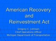 State of Michigan ARRA Funding Update