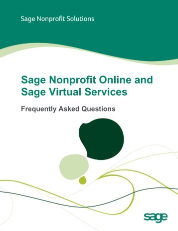 Sage Nonprofit Online and Sage Virtual Services