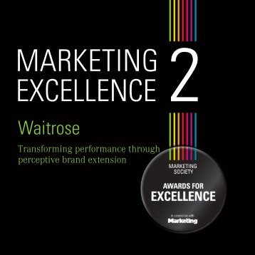 Waitrose - The Marketing Society