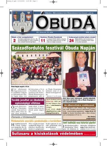 Óbuda újság 2008/10. szám - Óbuda-Békásmegyer