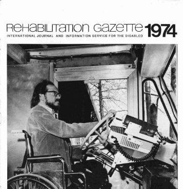 Rehabilitation Gazette (Vol. 17, 1974) - Polio Place