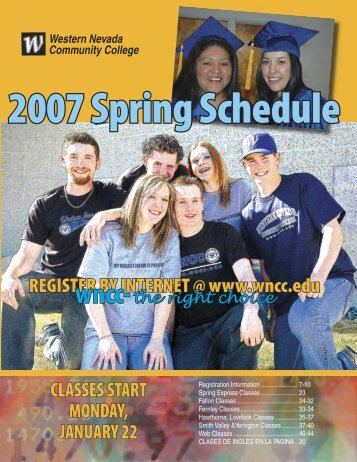 Spring 2007 Schedule - Western Nevada College