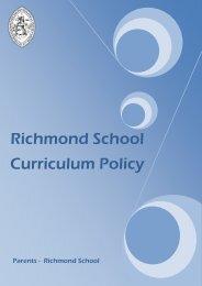 Curriculum Policy - Richmond School
