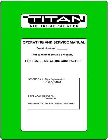 Scissor Lift Manual - Titan Air