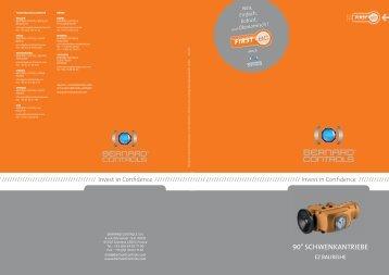 90° Schwenkantriebe - Bernard Controls
