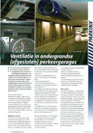 Ventilatie in ondergrondse parkeergarages - Keller