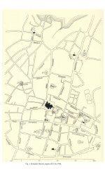 Fig. 1. Roskilde. Bykort, tegnet af El. M. 1944. - Danmarks Kirker