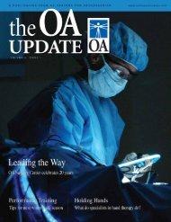 OA Update - Volume 3, Issue 1 (1.42 MB PDF File) - Orthopaedic ...