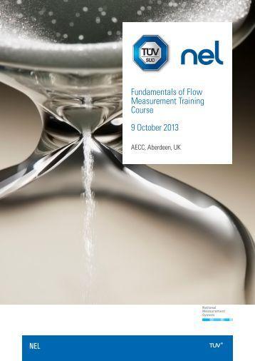 Fundamentals of Flow Measurement Training Course 9 ... - TUV NEL