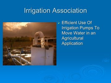 Basic Irrigation Pump Efficiency - ICWT