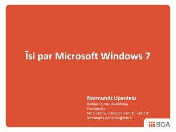 Īsi par Microsoft Windows 7 - LIKTA