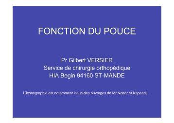 Biomécanique Pouce - ClubOrtho.fr
