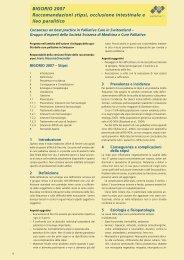 Stipsi occlusione intestinale - Palliative ch