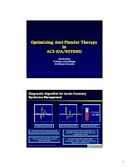 Optimizing Anti-Platelet Therapy in ACS (UA/NSTEMI ... - RM Solutions