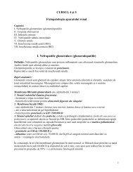 CURSUL 4 úi 5 Fiziopatologia aparatului renal I. Nefropatiile ...