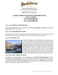 « LES SAVEURS DE L'Italie » 12 JOURS, 4 ... - Voyages à rabais