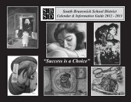 S.B. School District Calendar & Information Guide 2012 - South ...