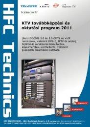 KTV továbbképzési és oktatási program 2011 - HFC Technics