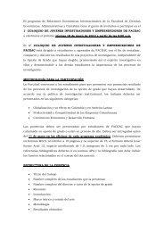El programa de Relaciones Económicas Internacionales de la ...