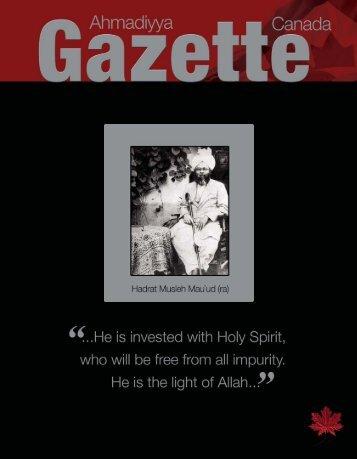 January / February 2007 - Ahmadiyya Gazette Canada