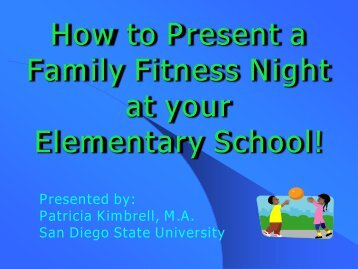 How To Present A Family Fitness Night At - Healthy Behaviors ...