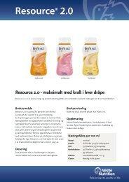 Resource® 2.0 - nestle nutrition