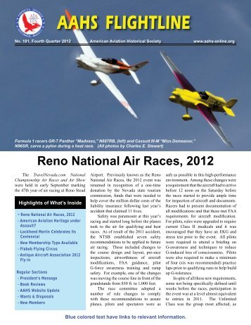 AAHS FLIGHTLINE - American Aviation Historical Society