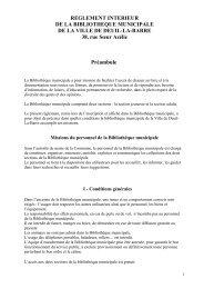 REGLEMENT INTERIEUR DE LA BIBLIOTHEQUE ... - Deuil-la-Barre