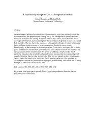 Growth Theory through the Lens of Development ... - MIT  Economics