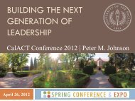 Building the Next Generation of Leaders (.pdf) - CalACT