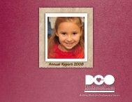 Annual Report 2008 - Developmental Center of the Ozarks