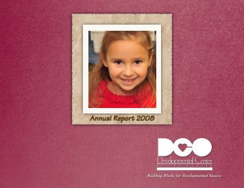 Annual Report 2008 - Developmental Center of the Ozarks