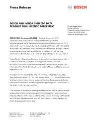 Press Release - Bosch Diagnostics