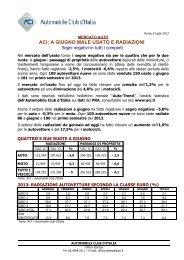 Comunicato stampa Autotrend luglio 2013 - ACI - Automobile Club ...