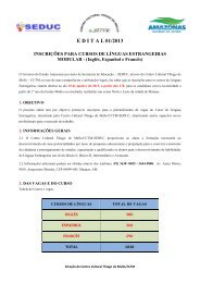 Lêia o edital de Línguas Estrangeiras - MODULAR - Centro Cultural ...