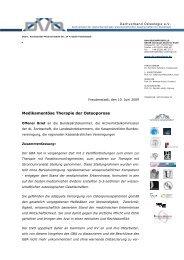 Medikamentöse Therapie der Osteoporose - Offener Brief des DVO ...