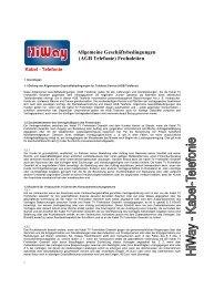 Allgemeine Geschäftsbedingungen (AGB Telefonie) Frohnleiten