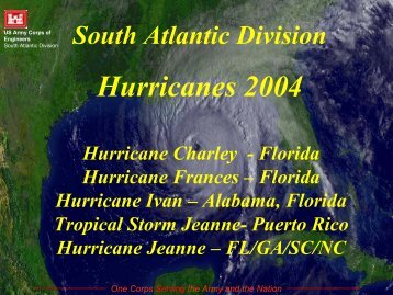 Hurricanes 2004 - The U.S. National Response Team (NRT)