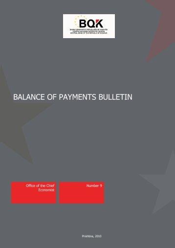BALANCE OF PAYMENTS BULLETIN