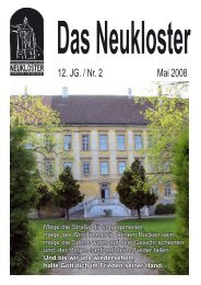12. JG. / Nr. 2 Mai 2008 - Stiftspfarre Neukloster Wiener Neustadt