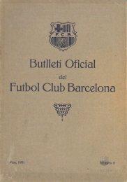 Butlletí Oficial del Futbol Club Barcelona, Març 1921 ... - FC Barcelona