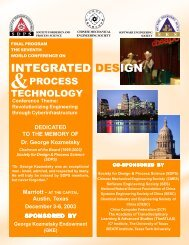 INTEGRATED DESIGN - SDPS