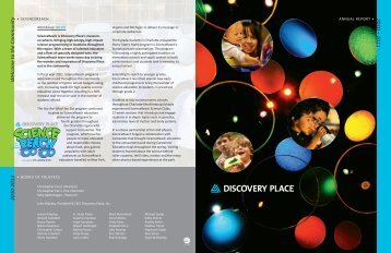 Download Our Annual Report And Donor Listing - Discovery Place