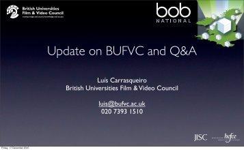 Update on BUFVC - British Universities Film & Video Council
