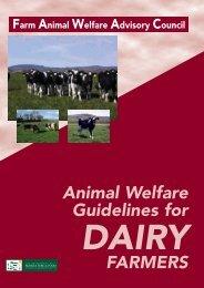 Animal Welfare Guidelines For DAIRY FARMERS - Farm Animal ...