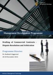 Management Development Programme - IMT