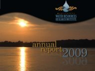 2009 Annual Report - Water Resources Research Institute ...